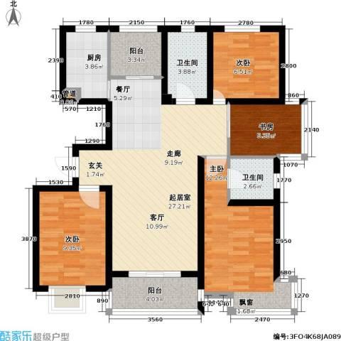 香梅花园4室0厅2卫1厨89.00㎡户型图