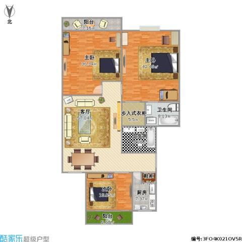 省水利厅宿舍3室1厅2卫1厨261.00㎡户型图