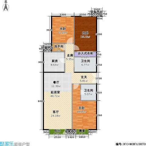 星源国际公寓3室0厅2卫1厨162.00㎡户型图