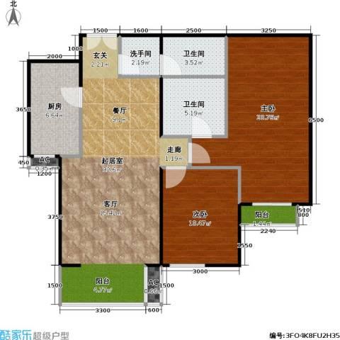 星源国际公寓2室0厅2卫1厨113.00㎡户型图