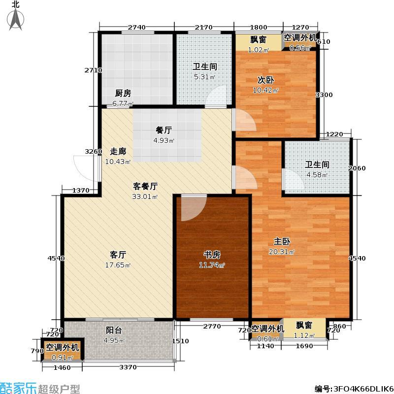 好享家107.00㎡好享家户型图三房二厅二卫-107平方米-48套(1/9张)户型10室