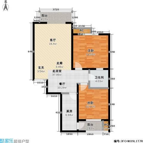华泰・忆江南 忆江南2室0厅1卫1厨89.00㎡户型图