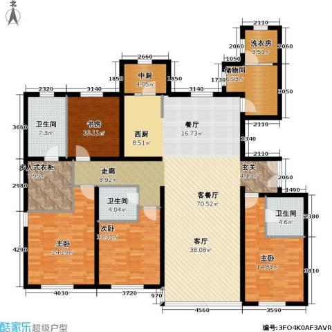 冠城・名敦道 冠城园4室1厅3卫0厨215.00㎡户型图