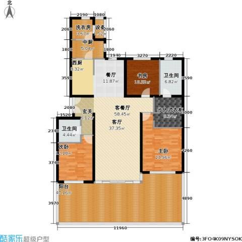 冠城・名敦道 冠城园3室1厅2卫0厨173.58㎡户型图