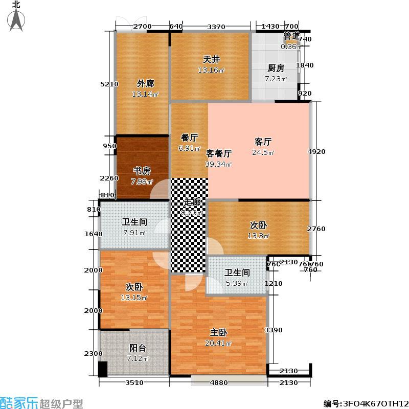 君汇新天156.00㎡君汇新天户型图四房二厅二卫(2/14张)户型10室