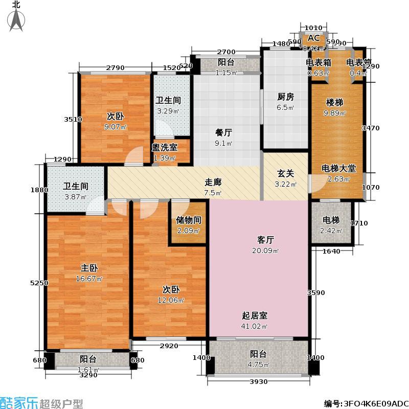 颐和星苑126.96㎡颐和星苑户型图三房,160平米(3/8张)户型10室