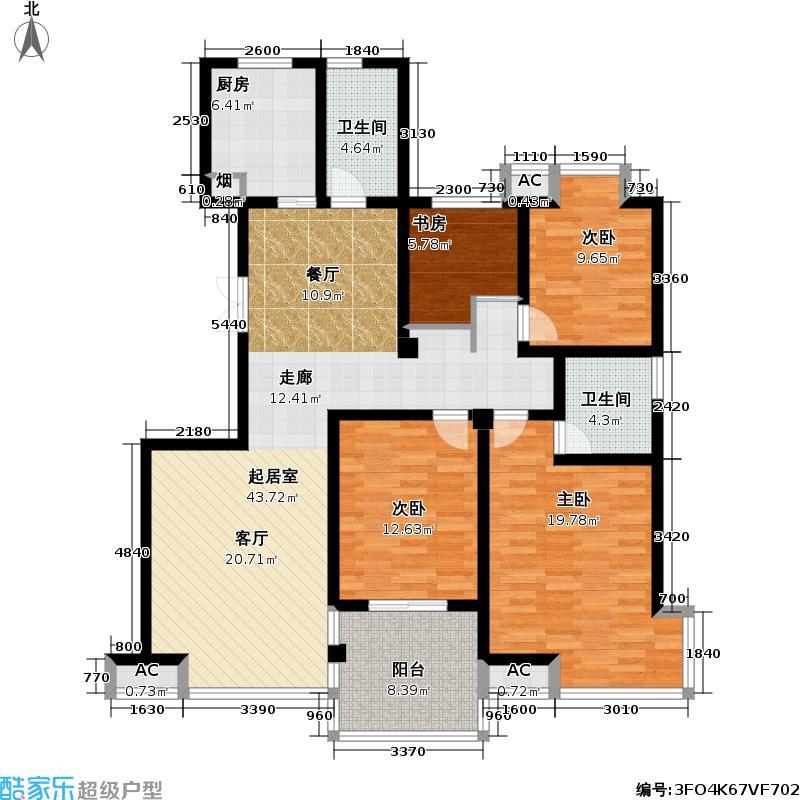 凯旋城143.73㎡凯旋城户型图四房二厅二卫-143.73平方米-34套(3/8张)户型10室