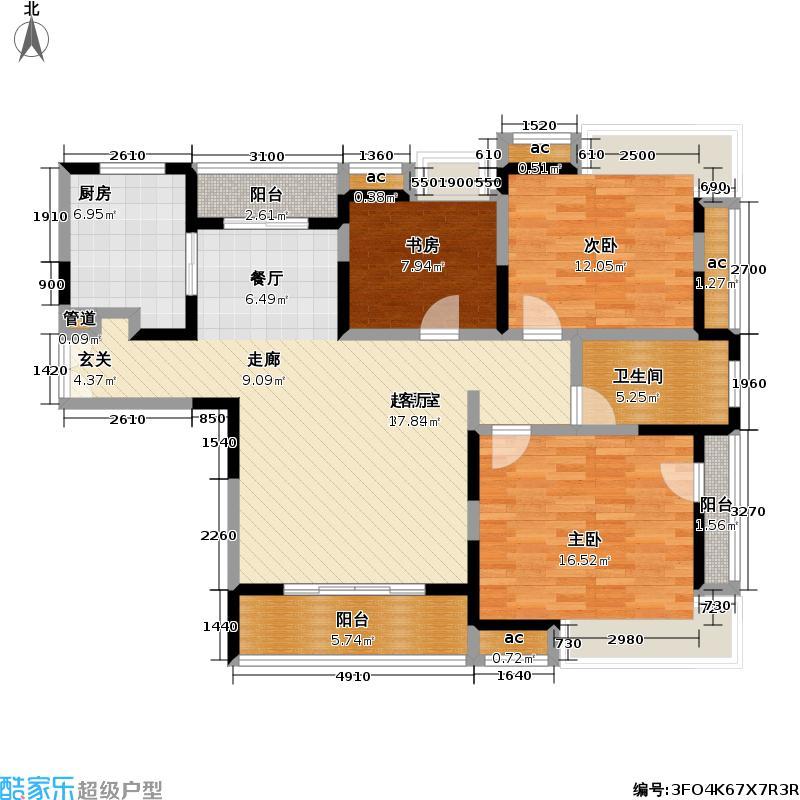 天地源橄榄湾120.00㎡天地源橄榄湾户型图房型:三房;面积段:120-130平方米;(5/5张)户型10室