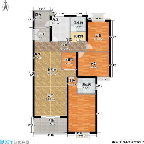 华丽家族花园3室0厅2卫1厨134.99㎡户型图