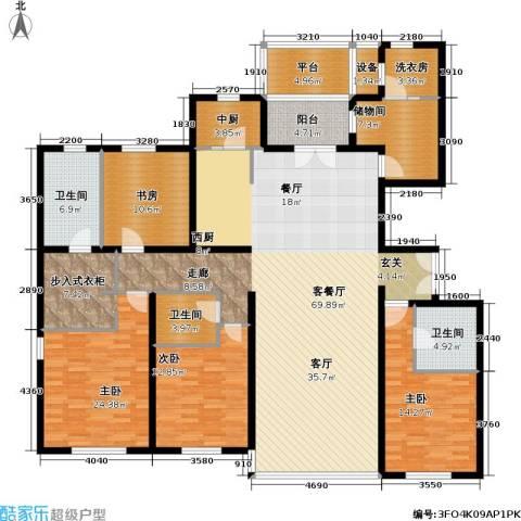 冠城・名敦道 冠城园4室1厅3卫0厨218.00㎡户型图