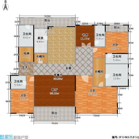 九龙仓国宾1号4室1厅5卫1厨295.00㎡户型图
