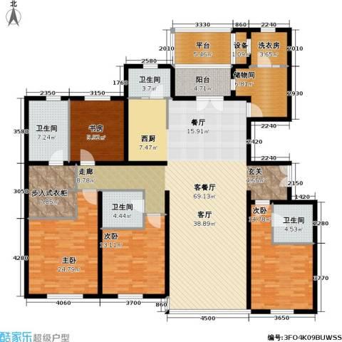 冠城・名敦道 冠城园4室1厅4卫0厨217.00㎡户型图