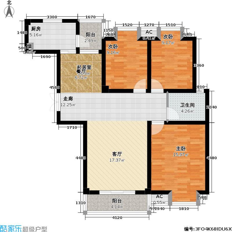 凯旋城112.00㎡凯旋城户型图112平米(6/8张)户型10室
