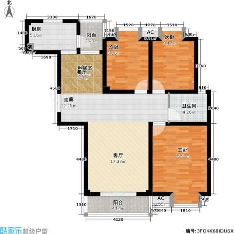 凯旋城3室0厅1卫1厨112.00㎡户型图
