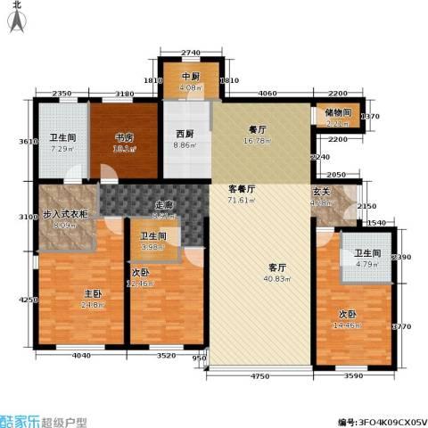 冠城・名敦道 冠城园4室1厅3卫0厨205.00㎡户型图