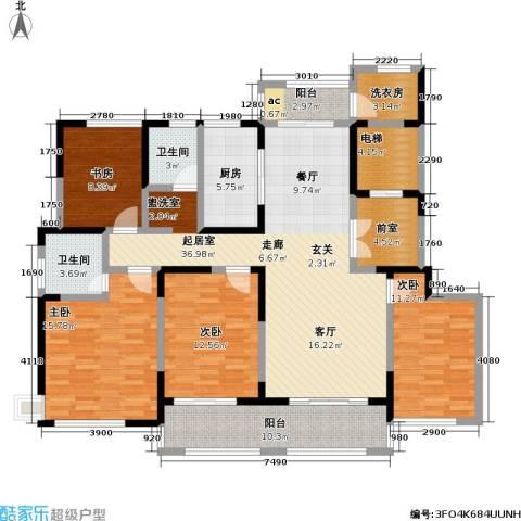 中茵星墅湾4室0厅2卫1厨145.00㎡户型图