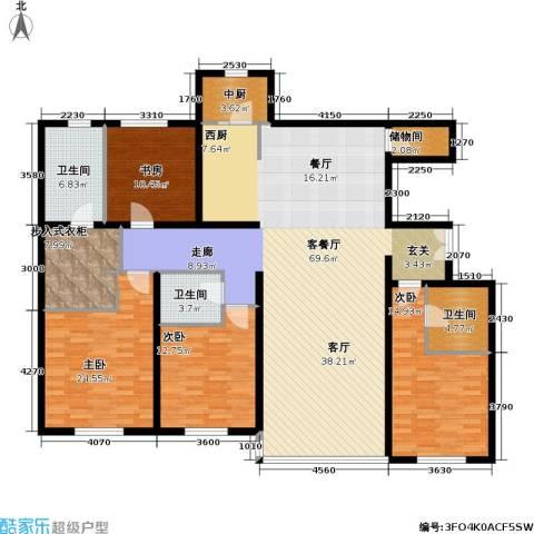 冠城・名敦道 冠城园4室1厅3卫0厨204.00㎡户型图