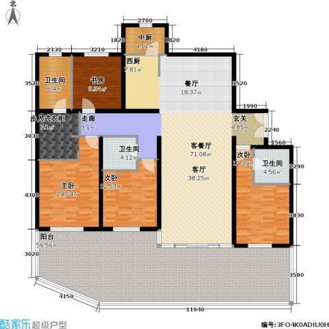 冠城・名敦道 冠城园4室1厅3卫0厨207.64㎡户型图