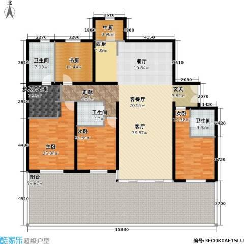 冠城・名敦道 冠城园4室1厅3卫0厨212.57㎡户型图