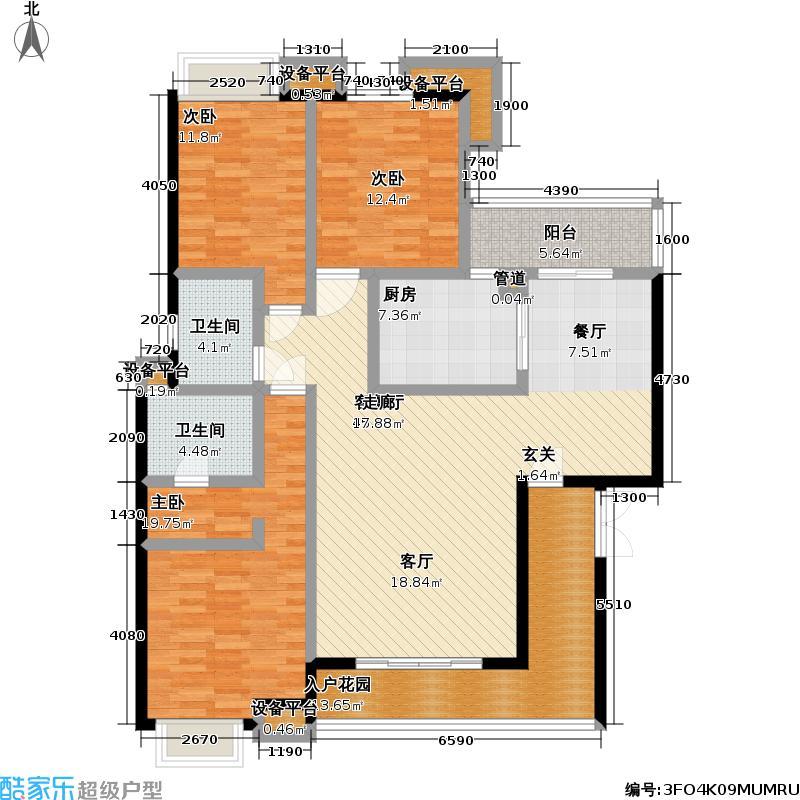 山水林涧户型3室1厅2卫1厨