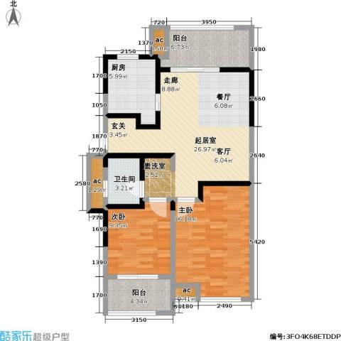 中茵星墅湾2室0厅1卫1厨89.00㎡户型图