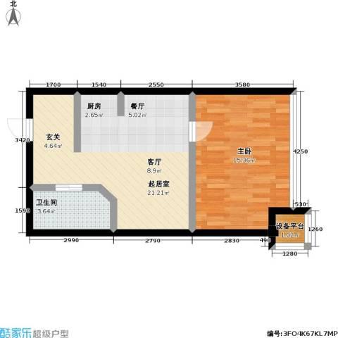 桃林雅景园1室0厅1卫0厨49.00㎡户型图