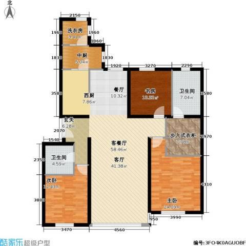 冠城・名敦道 冠城园3室1厅2卫0厨167.00㎡户型图
