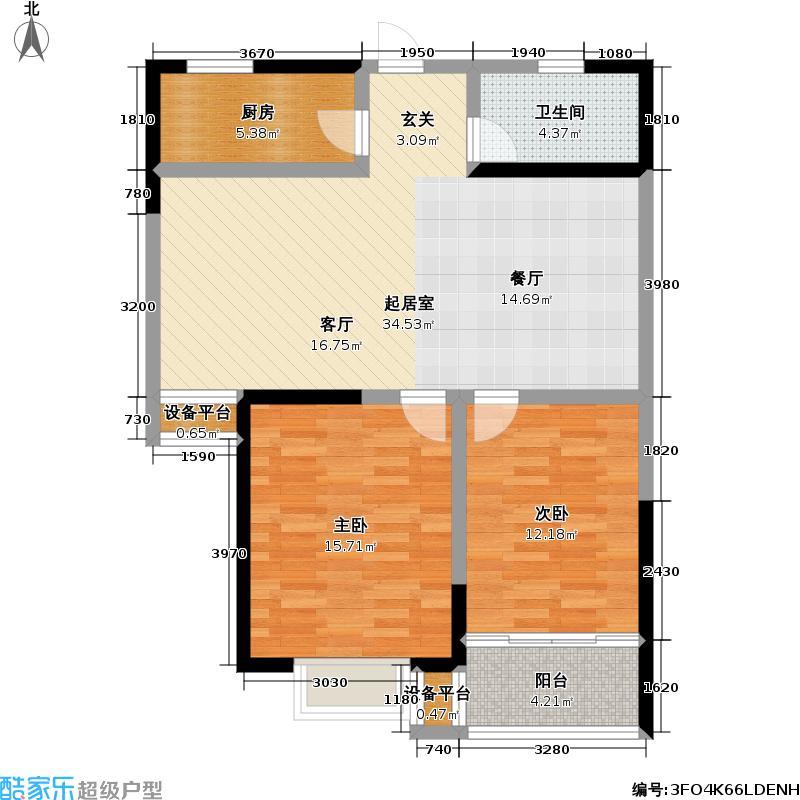 芳馨园89.00㎡芳馨园户型图1号楼B户型(3/4张)户型10室