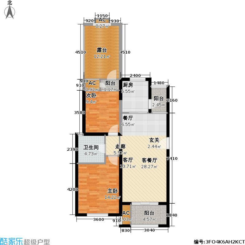 世嘉光织谷14#楼B2户型2室1厅1卫1厨
