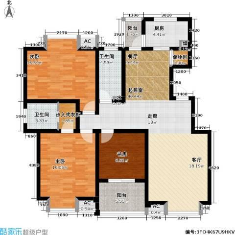 凯旋城3室0厅2卫1厨135.00㎡户型图