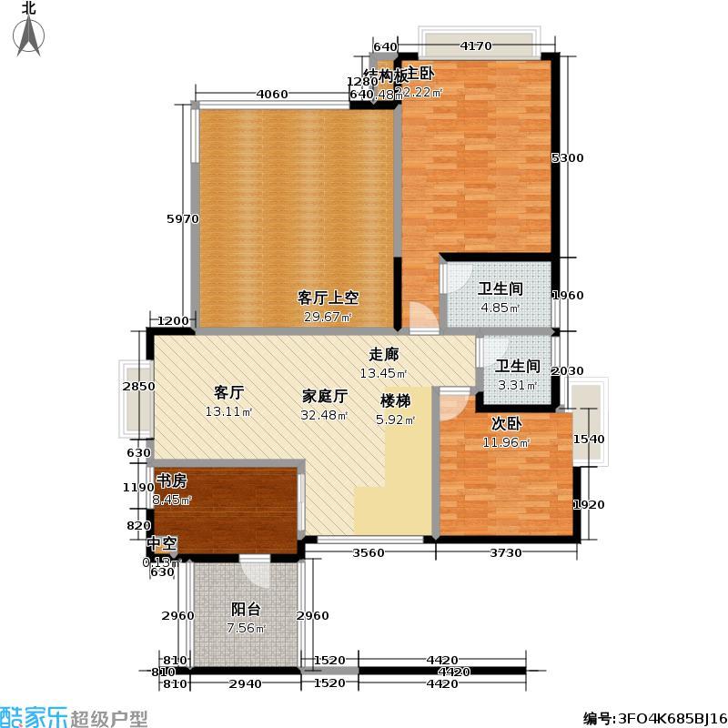 熙龙湾二期复式上层户型3室2卫