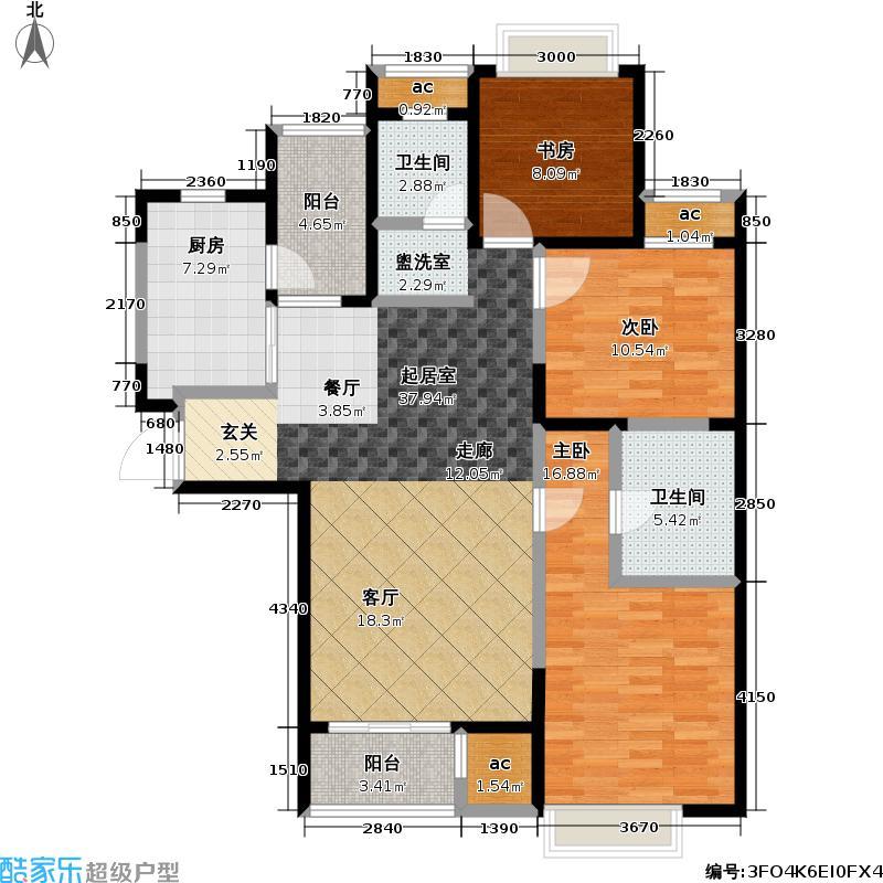 和风雅致126.00㎡和风雅致户型图CW2E户型(6/10张)户型3室2厅2卫
