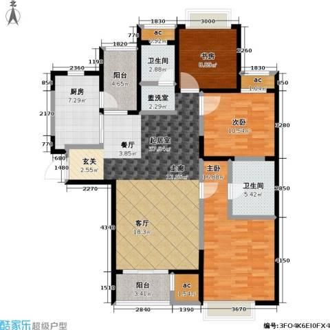 和风雅致3室0厅2卫1厨126.00㎡户型图