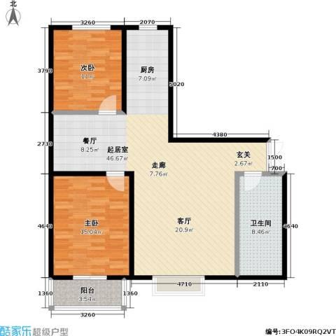 华泰・忆江南 忆江南2室0厅1卫0厨94.00㎡户型图
