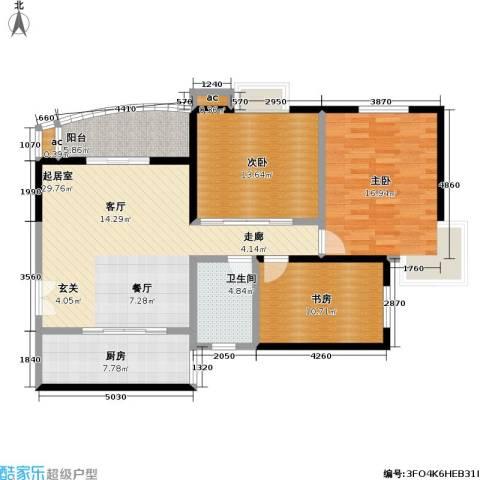 静安晶华园3室0厅1卫1厨106.00㎡户型图