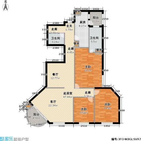 华源新第3室0厅2卫1厨130.00㎡户型图