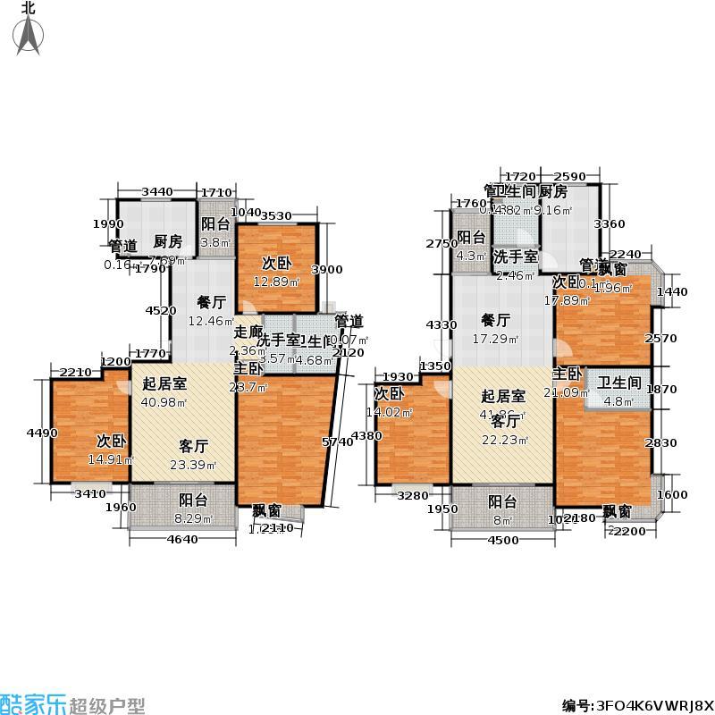 大华阳城花园(二期)107.31㎡房型: 三房; 面积段: 107.31 -144.18 平方米; 户型
