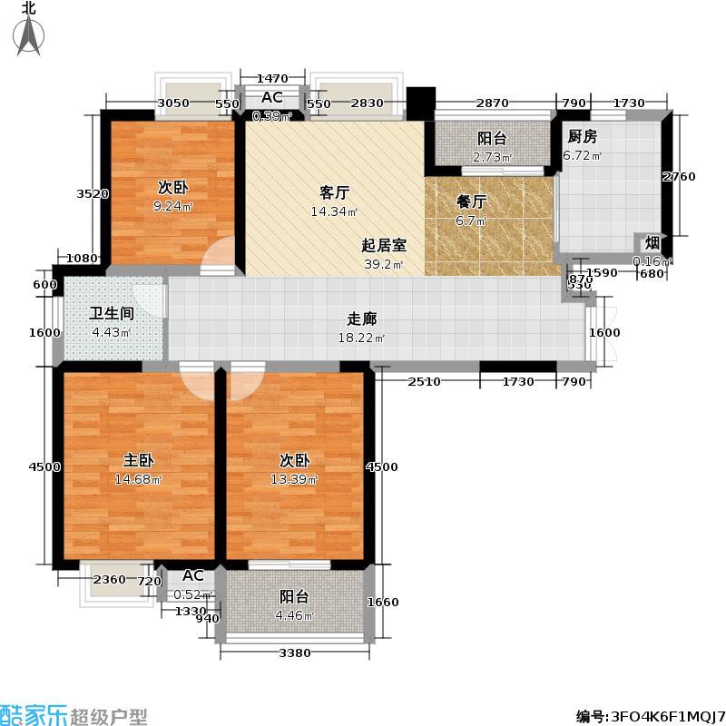 彩虹城彩虹城户型图观澜三房两厅一卫118-119㎡(3/10张)户型10室