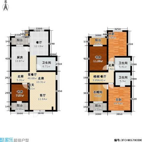 世嘉光织谷4室2厅3卫1厨220.00㎡户型图