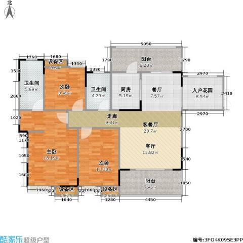 海语江山 海尔・海语江山3室1厅2卫1厨110.00㎡户型图