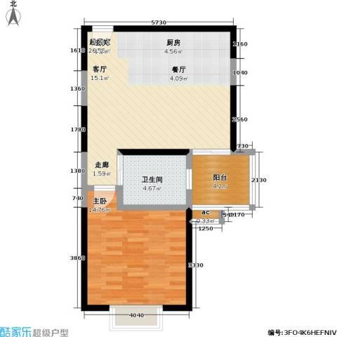 静安晶华园1室0厅1卫0厨57.00㎡户型图