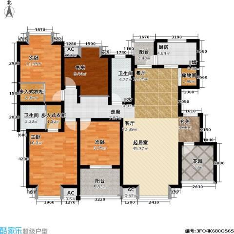 凯旋城4室0厅2卫1厨158.00㎡户型图
