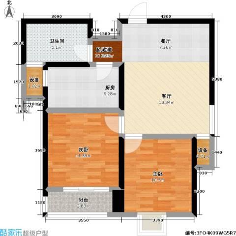 翠园世家2室0厅1卫1厨68.00㎡户型图