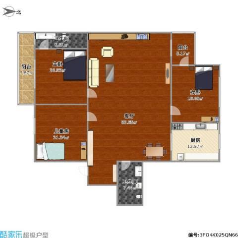 双花园西里3室1厅2卫1厨241.00㎡户型图