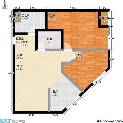 桃林雅景园2室0厅1卫1厨92.00㎡户型图