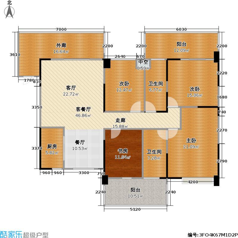 君汇新天176.00㎡君汇新天户型图四房二厅二卫(6/14张)户型10室