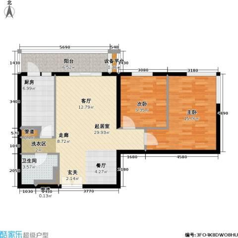 东丽温泉家园2室0厅1卫1厨83.00㎡户型图