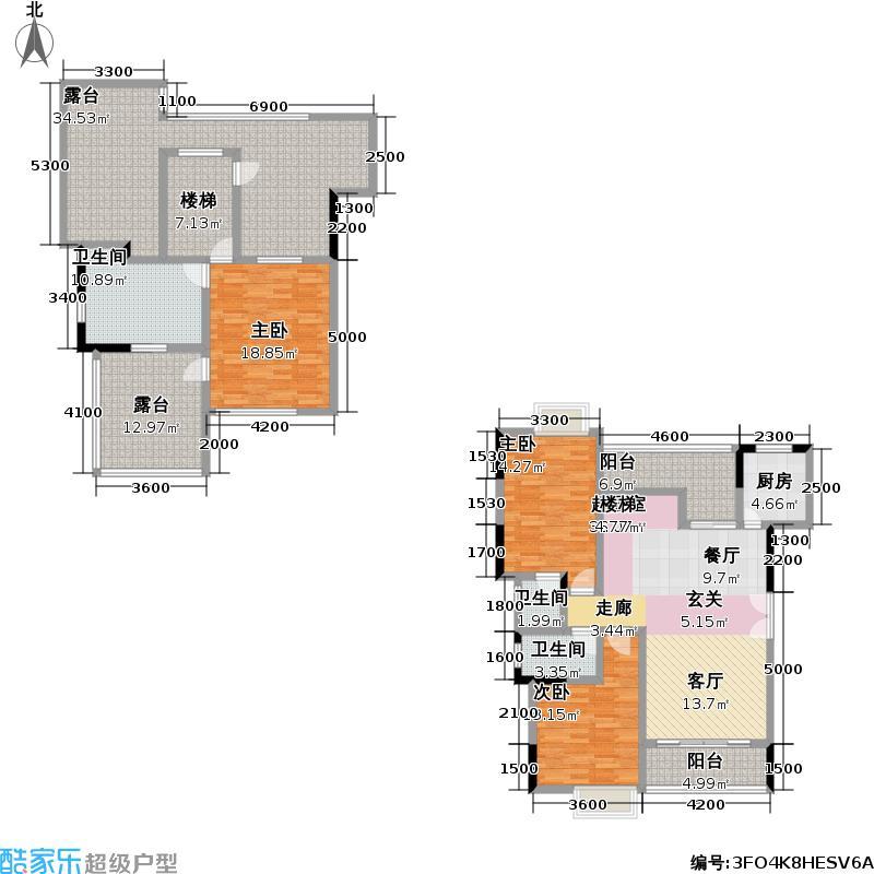 永高星海名城159.88㎡8、9号楼B15户型4室2厅2卫
