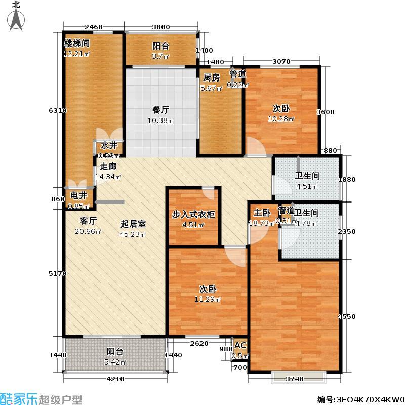龙兆苑139.56㎡房型: 三房; 面积段: 139.56 -139.56 平方米; 户型