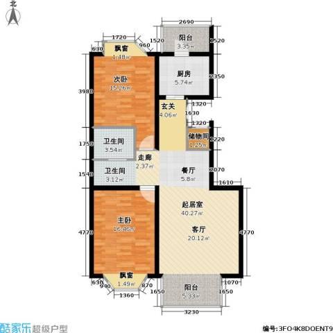 宏鑫家园2室0厅1卫1厨96.00㎡户型图